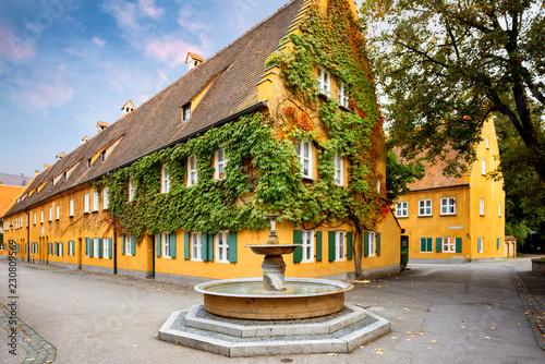 Augsburg: Fuggerei - the world oldest social housing Wallpaper Mural