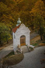Chapel In The Autumn Near The City Prague