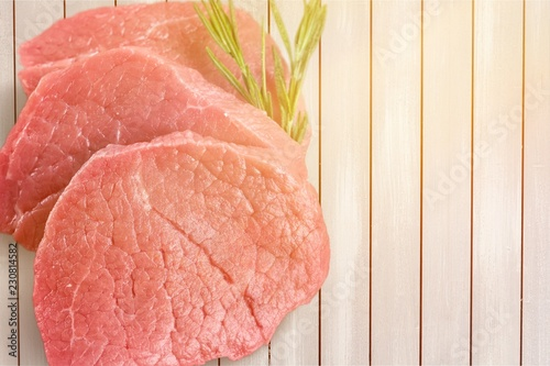 Raw Meat Isolated