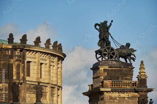 Foto  Landmarks of Saxony Germany - elegant baroque city Dresden, popular touristic at