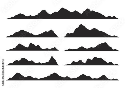 Fototapeta Mountains silhouettes Vector obraz