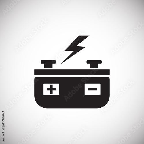 Photo Battery accumulator on white background icon