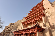 Mogao Caves In Dunhuang, China...