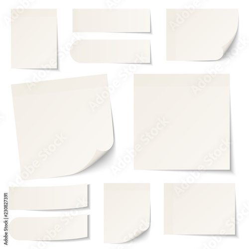Photo  Stick Notes Beige Collection