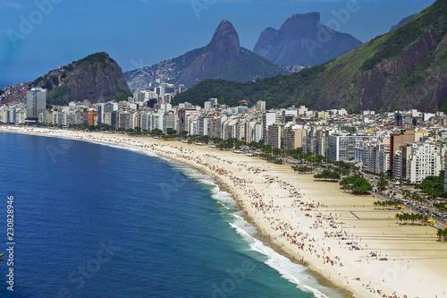 Foto op Aluminium Centraal-Amerika Landen Copacabana Beach, Rio de Janeiro City