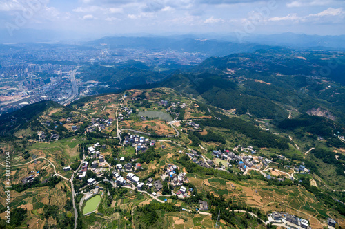 Aerial photography of Guling Tourism Scenic Spot, Fuzhou, China