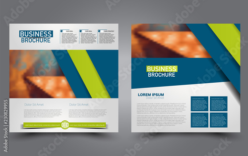 Square flyer template  Simple brochure design  Poster for