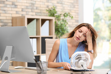 Businesswoman Suffering From H...