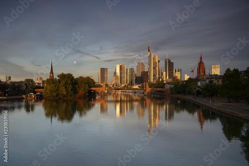 Deurstickers Rotterdam city of frankfurt/ main