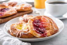 Cherry And Lemon Danish