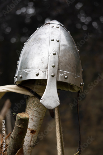 A Norman style medieval helmet. Wallpaper Mural
