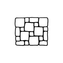 Tile Pavement Icon. Sketch Iso...