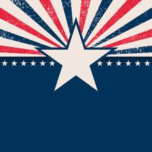 Usa Star Rays Background