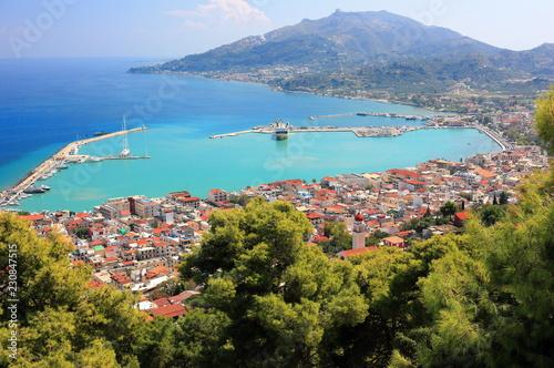 Fototapeta Aerial view of Zakynthos city