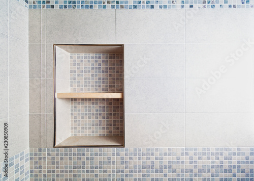 Photo Bathroom mosaic alcove