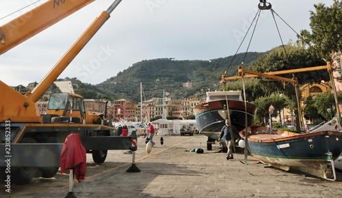 Tuinposter Poort Recupero barche