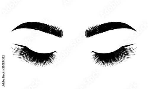 Fotografering  Black lashes