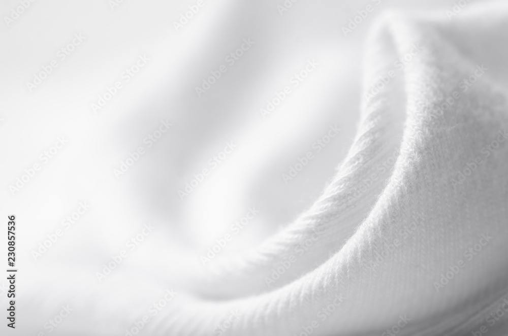 Fototapety, obrazy: White warm fabric texture material sweater on blur background