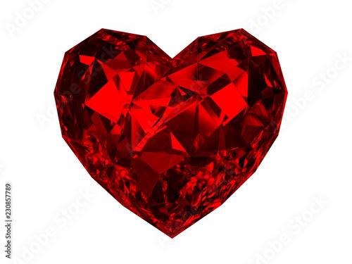 Cuadros en Lienzo 3d Rubby Heart