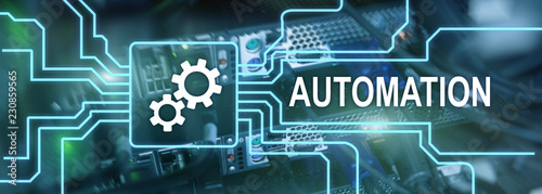 Automation of business Process and innovation technology in manufacturing Wallpaper Mural