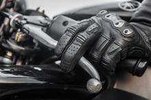 Handbrake Closeup Sportbike On Sunset, On The Road Russian Federation