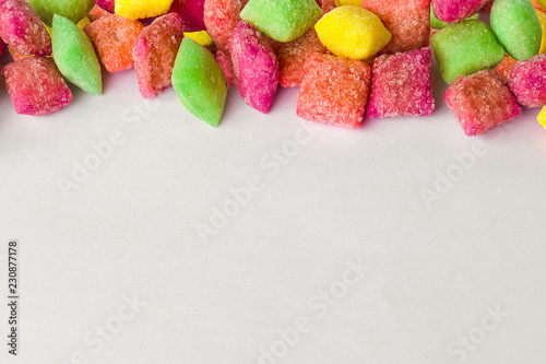 Frame of sugar candy background