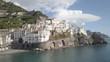 Italian coast of Amalfi, aerial