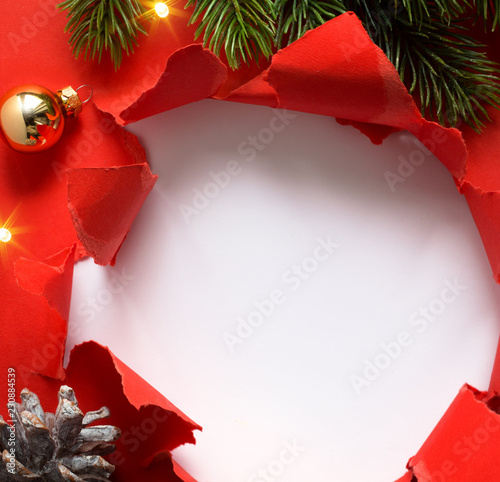 Christmas background; design holidays greeting card or winter sale season banner