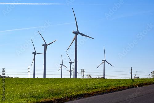 Fotografie, Obraz  Wind Power Windmills Renewable Clean Green Energy Electricity Turbines