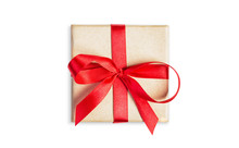 Small Square Gift Box Tied Wit...