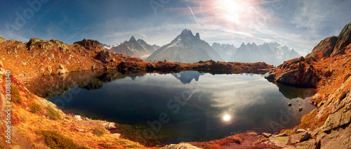 Crystal Lakes Chamonix in the Alps Canvas Print