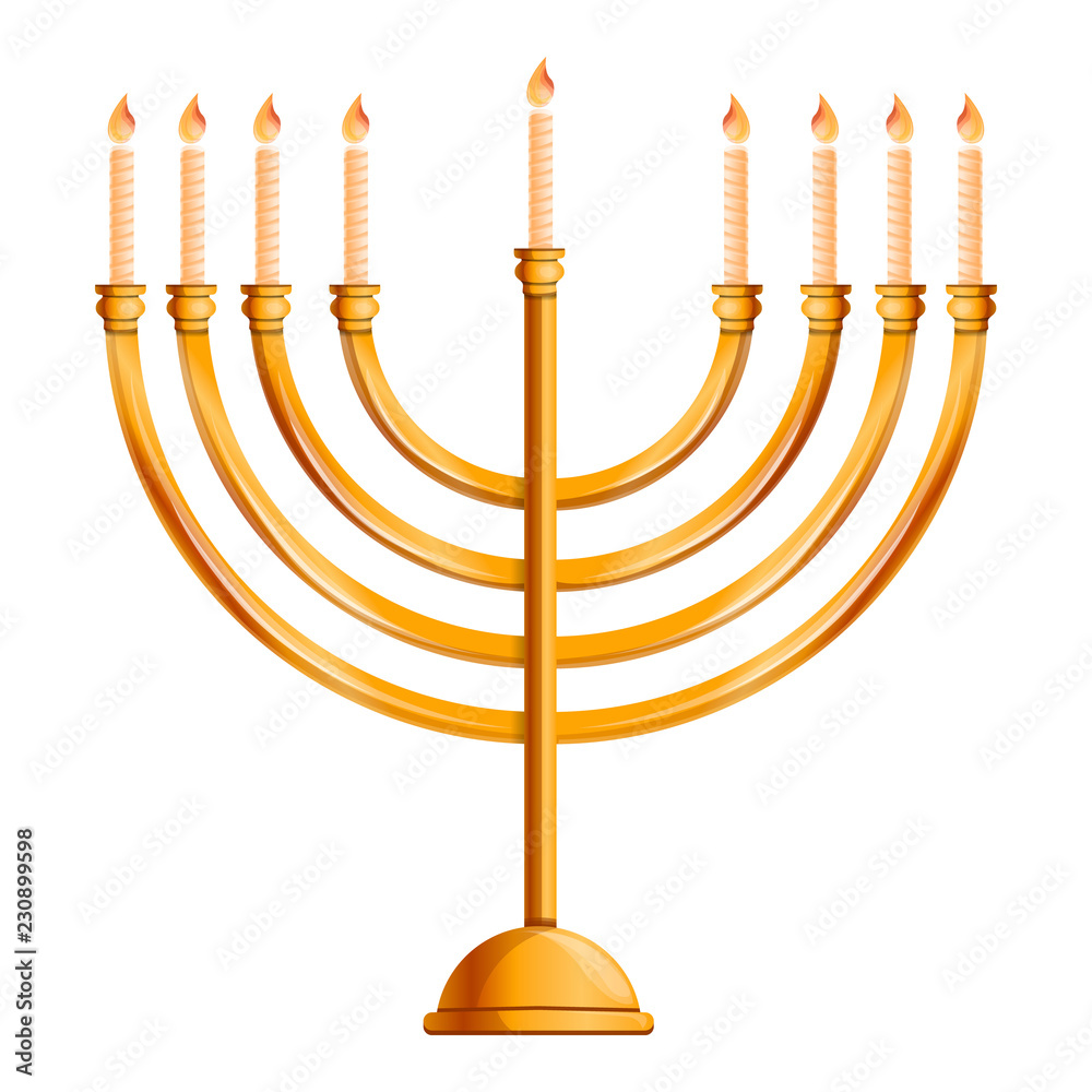 Photo  Jewish menorah icon
