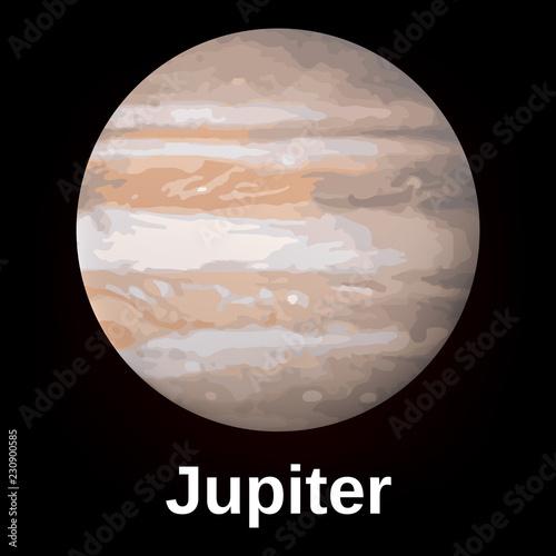 Fotografia  Jupiter planet icon