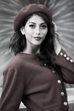 Beautiful, Stylish Woman Wearing Beret