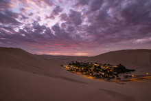 Sunset Over The Oasis Huacachina
