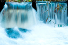 Photo Of A Small Waterfall, Image For Background With Water