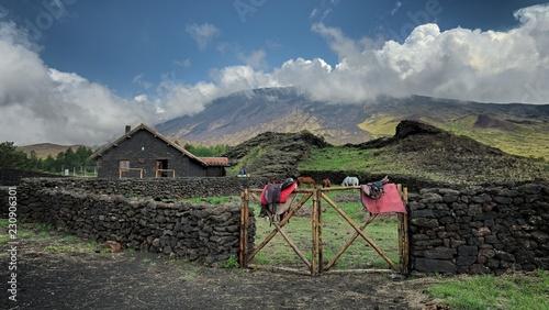 Fényképezés  Galvarina Refuge Under Etna Mount, Sicily