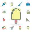 ice cream colored icon. Ice cream icons universal set for web and mobile