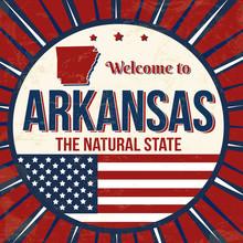 Welcome To Arkansas Vintage Grunge Poster