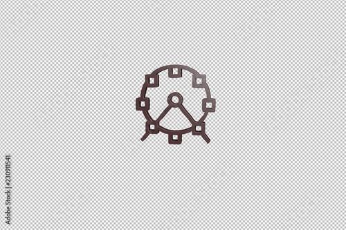 Fotografie, Obraz  brown Recreation 3D illustration on transparent background