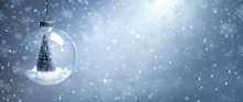 Snow Globe With Christmas Tree