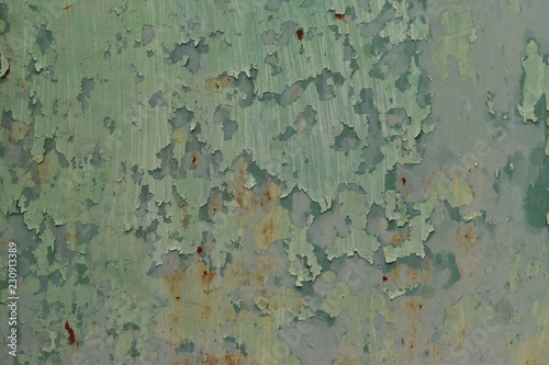 Peeling paint color engender rusted, Texture metal with abrasion Wallpaper Mural