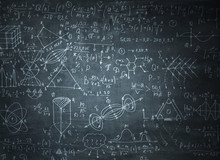 Chalkboard With Formulas