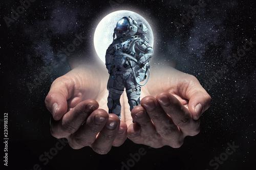 Fotografie, Obraz  Astronaut on his mission. Mixed media