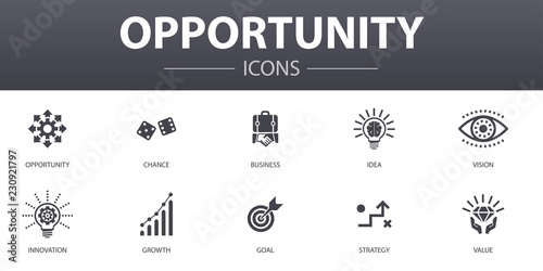 Cuadros en Lienzo  opportunity simple concept icons set