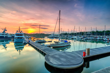 A Majestic Sunrise With Boat R...