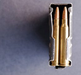 A rifle magazine loaded wit...