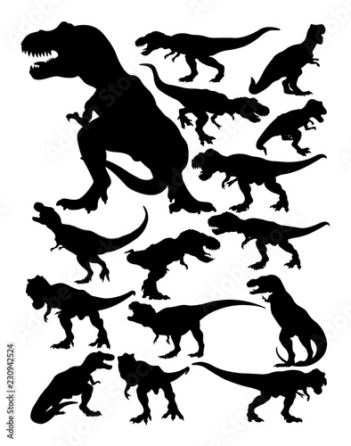 Cuadros en Lienzo Tyrannosaurus rex silhouette