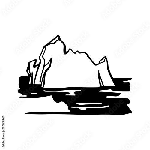 Iceberg armada in the North Sea Wallpaper Mural