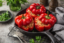 Red Bell Peppers Stuffed With ...